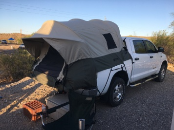 Guy and Kim's truck tent.